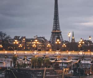 je t'aime, lights, and the eiffel tower image