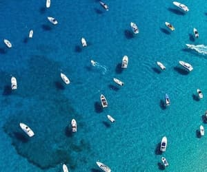 boat, ocean, and sea image
