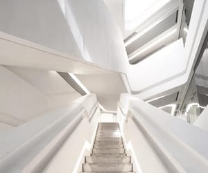aesthetic, staircase, and white image
