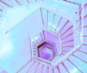 aesthetic, glow, and stairway image