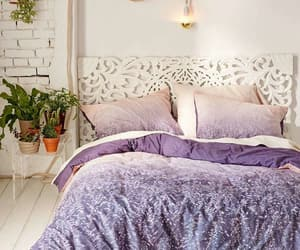 bedroom, design, and purple image