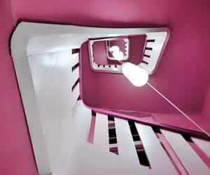 mauve, pink, and stairway image