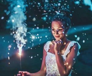 light and girl image