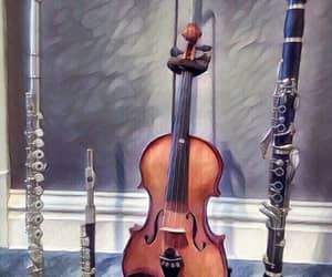 clarinet, flute, and violin image