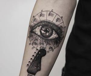 eye, guitar, and ink image