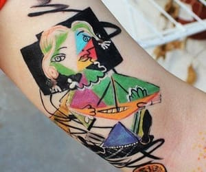 abstract art, picasso, and tattoo image