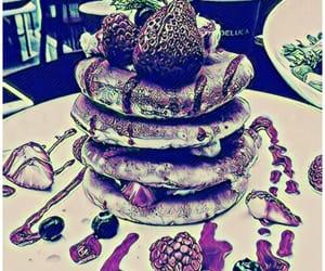 aqua, rasberries, and strawberries image