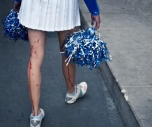 cheerleader, blood, and high school image