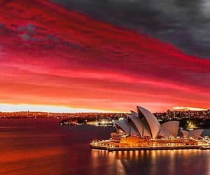 australia, red, and Sydney image