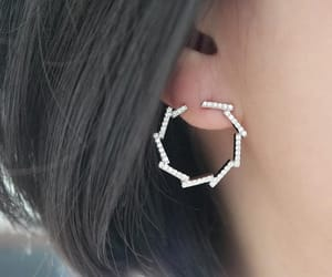 earrings, silver, and wreath image