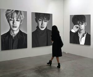 art gallery, hyungwon, and black and white image
