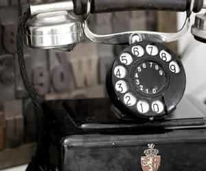 vintage, antiques, and telephone image