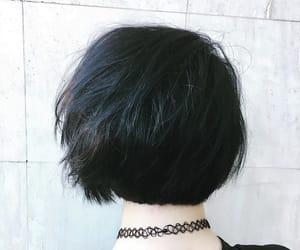 asian, black, and bob image