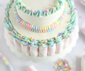 cake, food, and pastel color image