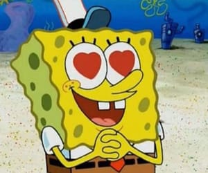 spongebob, meme, and heart image