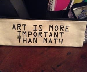 art, quotes, and math image