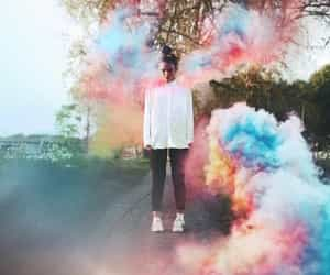 colors and girl image