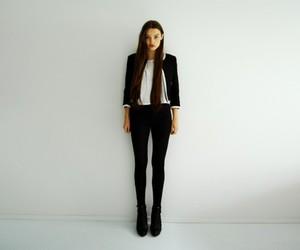 model, black, and fashion image