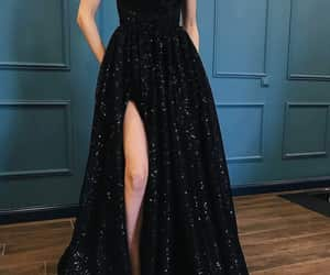 black dress, clothes, and dress image