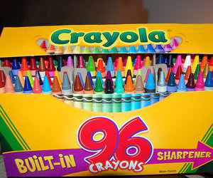 crayon, crayola, and colors image