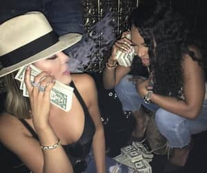 money, kardashian, and smoke image