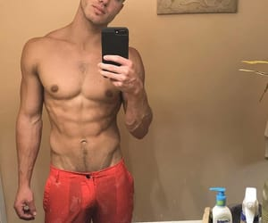 abs, beard, and muscles image