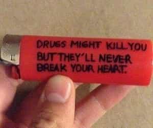 drugs, grunge, and lighter image