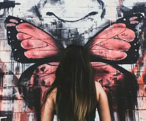 art, butterfly, and freedom image