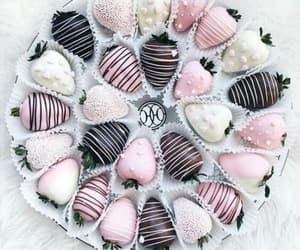 chocolate, pink, and yum image