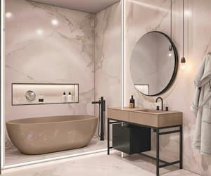bathroom, girls, and lights image