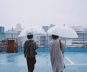 film, girls, and umbrella image