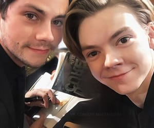 the maze runner, thomas brodie sangster, and dylan obrien image
