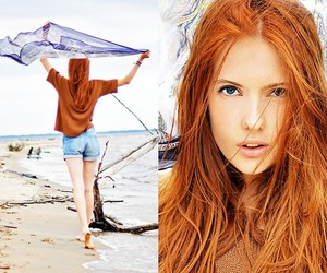 beach, clothes, and hair image