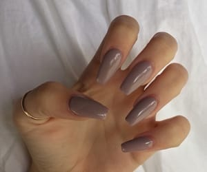 basic, nails, and taupe image