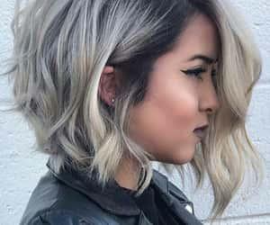 grey, leatherjacket, and short image