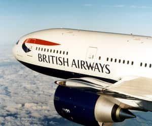 british airways, plane, and travel image