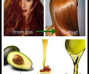 hair, diy, and avocado image