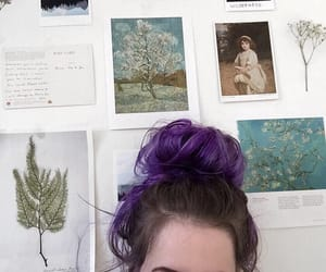 artsy, dyed hair, and purple hair image