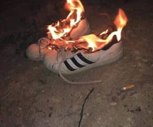 grunge, adidas, and fire image