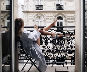 girl, morning, and paris image