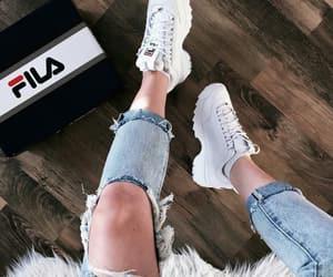 girl, fashion, and Fila image