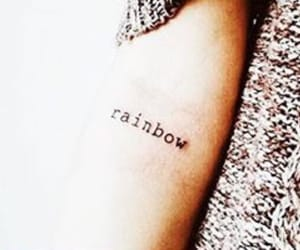 rainbow and tattoo image