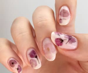 flower, lady, and manicure image
