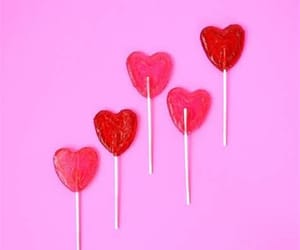 pink, heart, and candy image