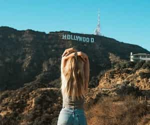 hollywood, girl, and california image