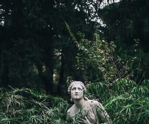 green, statue, and nature image