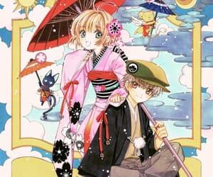 sakura card captors, sakura kinomoto, and syaoran li image