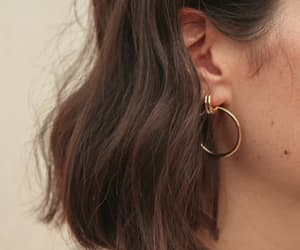 hair, earrings, and jewelry image