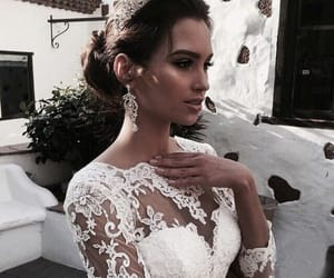 beautiful, bride, and bridesmaids image