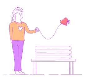 gif, heart, and love image